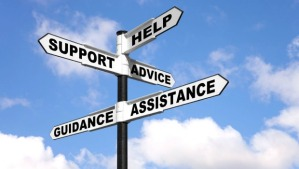 BMJ595 Help Support Advice Assistance and Guidance on a signpost