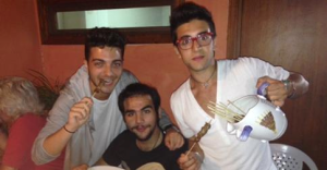 "Having food together in Abruzzo. Credit ""All Things Il Volo"""