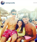 Piero, his sister and his friend.