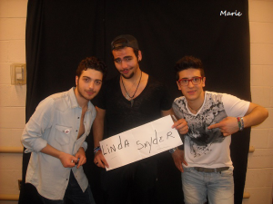 Thanks to Marie and Il Volo!