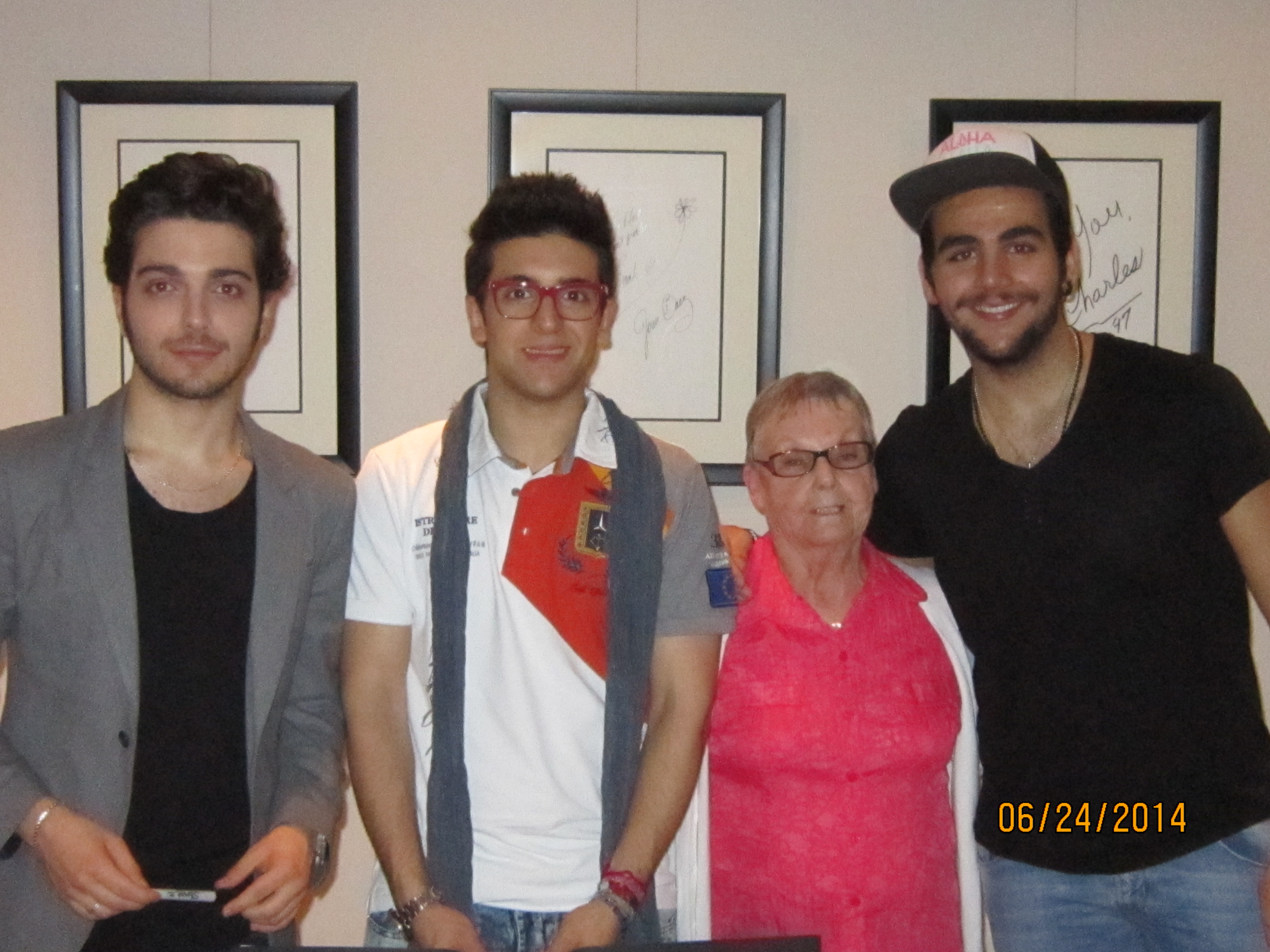 Meet and greet il volo flight crew share the love no offense annie but if i had a granddaughter that looked like that i wouldnt take her with me to meet the boys look at gianluca m4hsunfo