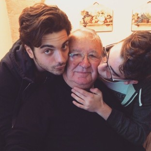 @gianginoble11 Instagram Gianluca and Ernie with their Grandfather, Christmas 2014