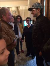 @pizzicospizzico Look who dropped in! Piero and friends - Christmas 2014