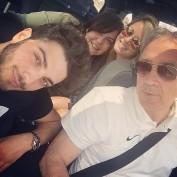 Gianluca Instagram (@gianginoble11) Gianluca, Papa Ginobile, Barbara and fan Assisi instagram - June 2015