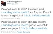 original tweeter noted; LiJoy3 an emotional event - standing O for Piero's solo - Pompeii concert 2015