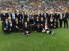 Radio2 All the singers who partipated in the benefit soccer game - Turin, Italy