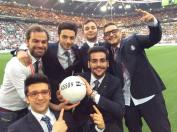 Radio23 Il Volo and fellow team members - benefit soccer game Turin Italy 2015