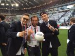 """Radio24 """"Call to donate"""" message - benefit soccer game - Turin, Italy"""