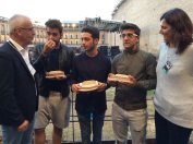 Comune di Macerata Il volo presented with miniatures of the Sferisterio di Macereta Theater- August, 2015