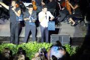 Philly Sara; Lydka Il Volo and their keepsake books from the Flight Crew - Palermo Concert August 26/27 - 2015