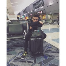 @gianginoble11 2 Gianluca's Instagram at Las Vegas Airport returning to Rome 11/20/2015