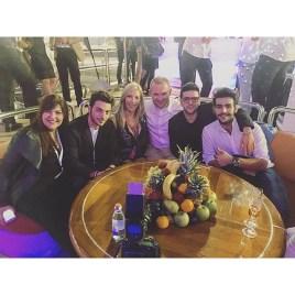 @supersonic88 Il Volo, Barbara and Ethiad officials - Abu Dhabi - Nov. 2015