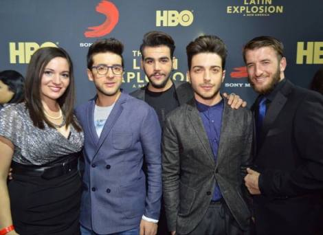 @VegasScene1 Il Volo attends the screening of the Latin Explosion - Latin Grammys 2015