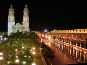 quickly.com.mx venue of the Campeche Concert - Atrium of the Historical Cathedral Dec. 20, 2015