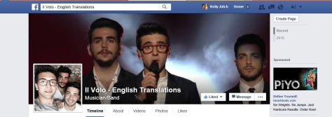 Il Volo English Translations Facebook