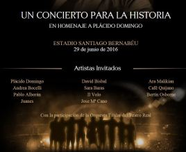 Mary Strickler Announcement of Concert in honor of Placido Domingo