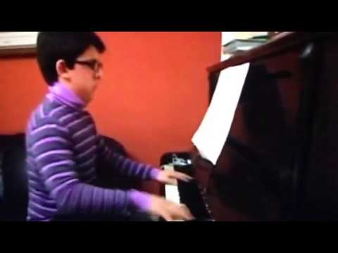 Piero at piano