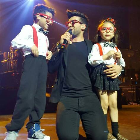 Piero kids in red