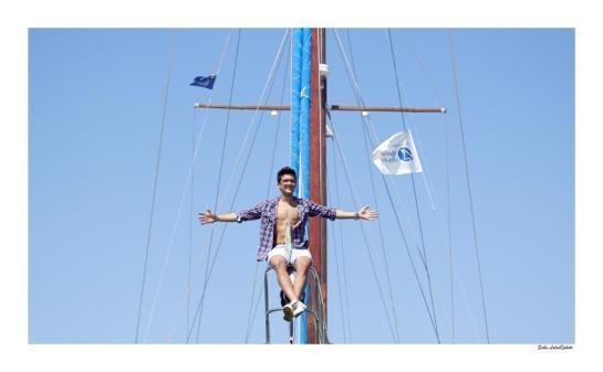 piero on ships mast