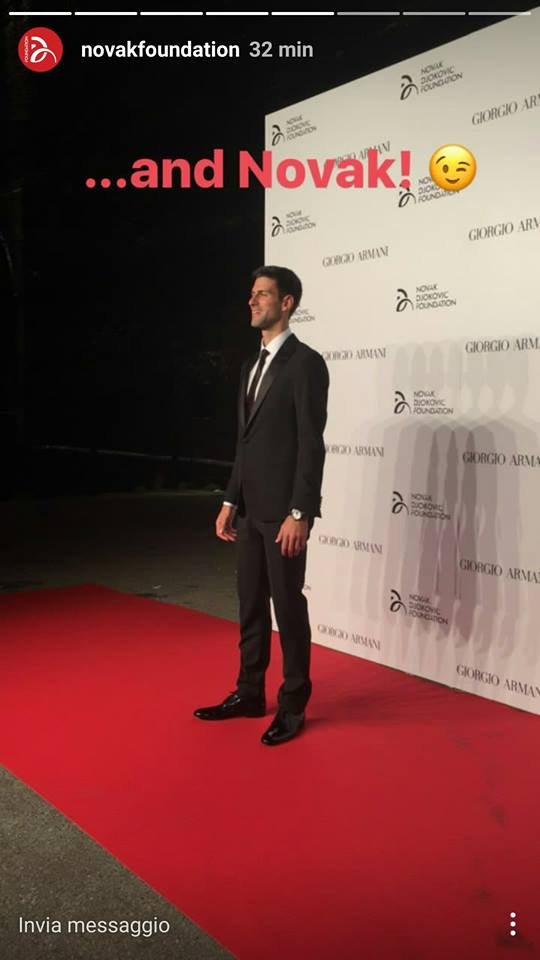 MILAN, ITALY – SEPTEMBER 20  Voclals Band il Volo attend the Milano Gala  Dinner benefitting the Novak Djokovic Foundation presented by Giorgio Armani  at ... ec5cd30619f
