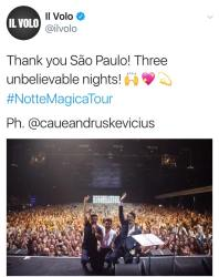 sao paolo last,concert Notte Magica Tour -Sao Paolo - Last Concert - 9/24/17