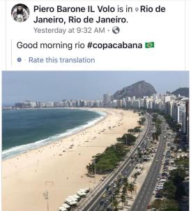 rio Piero Copacabana Beach - Rio de Janeiro 8/28/17