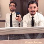 Franz Barone Piero and Franz at St. Moritz 12/28/17