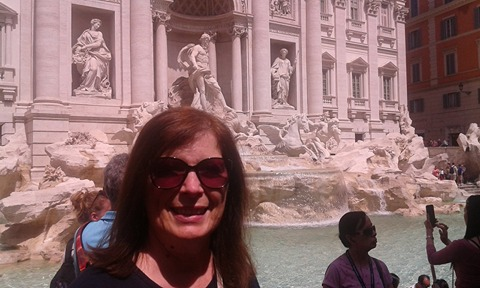 Daniela at Trevi Fountain