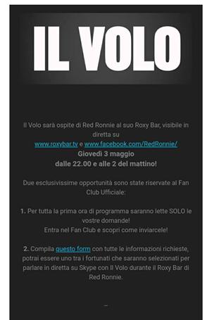 IL VOLO Fan Club Email
